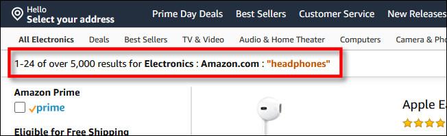 """The search criteria will include """"Amazon.com"""""""