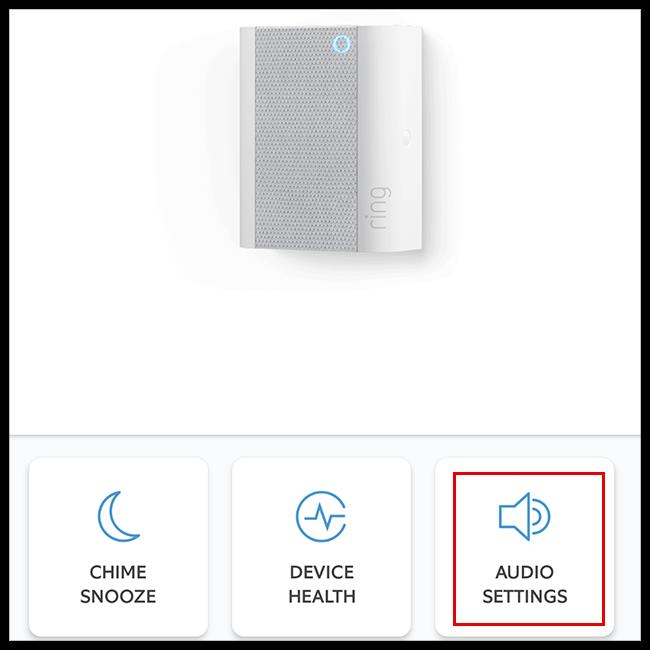 select audio settings
