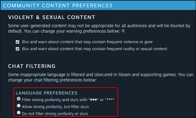 Seleccione una opción de preferencia de idioma