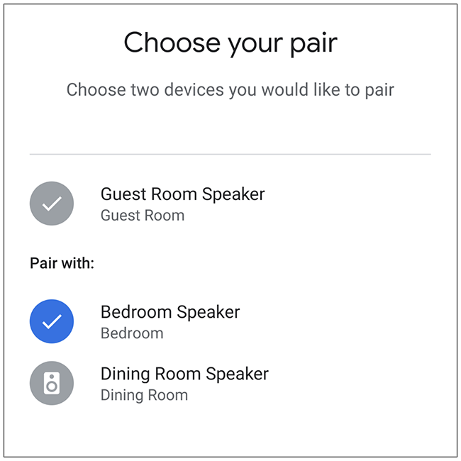 Select the second speaker you want to use.