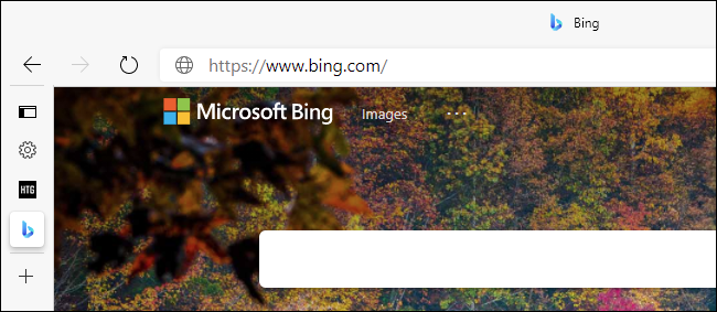 The collapsed tab sidebar in Edge showing favicons