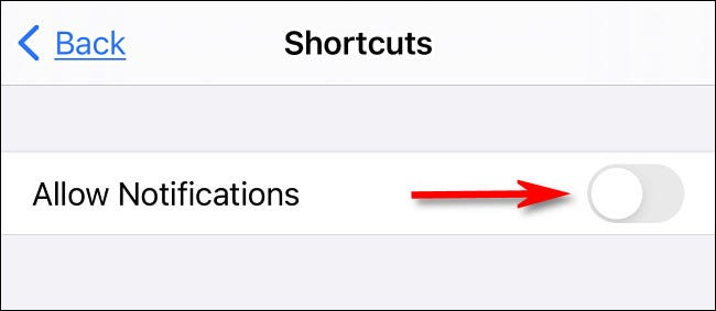 "Toggle-Off ""Allow Notifications."""
