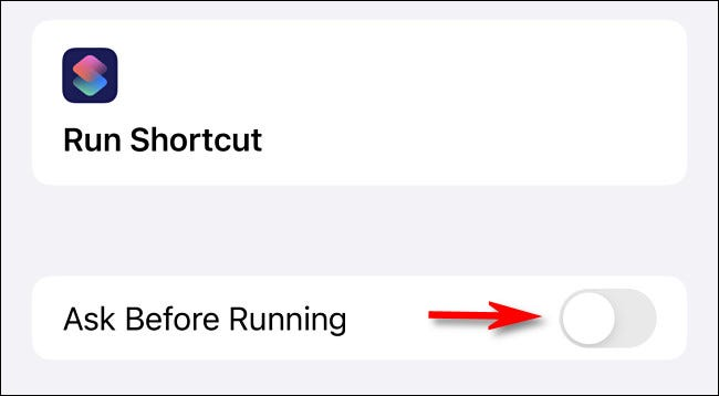 "Toggle-Off ""Ask Before Running."""
