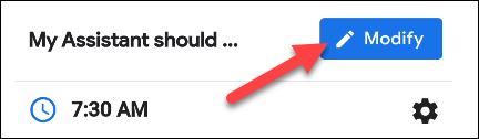 tap the modify button