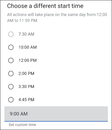edit the time slot
