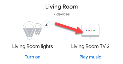 find your google tv device in the google home app