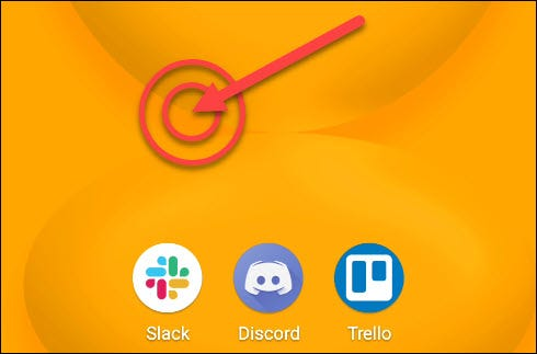 long press the home screen