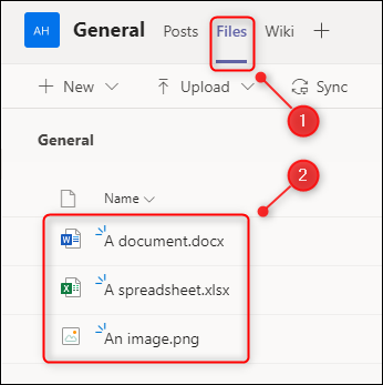 """The """"Files"""" tab showing uploaded documents."""