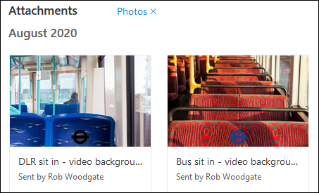 "Images displayed in the ""Tiles view"" mode."