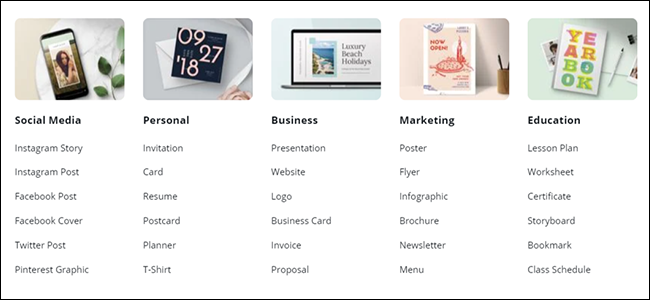 Canva Template Menu