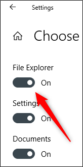 "Toggle-On ""File Explorer."""
