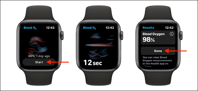 Measure blood oxygen levels on the Apple Watch
