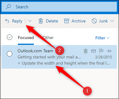 Reply an email in Outlook steps