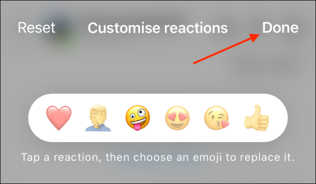 Tap Done to save custom emojis