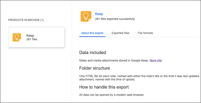 A Google Keep data archive.
