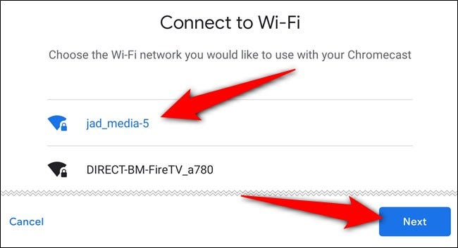 "Choose the Wi-Fi network, tap the ""Next"" button, and then sign in"