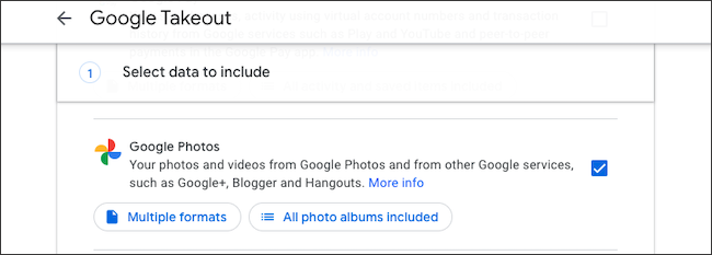 Backup Google Photos library with Takeout