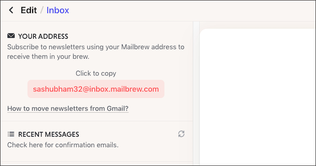 Forward newsletters to Mailbrew