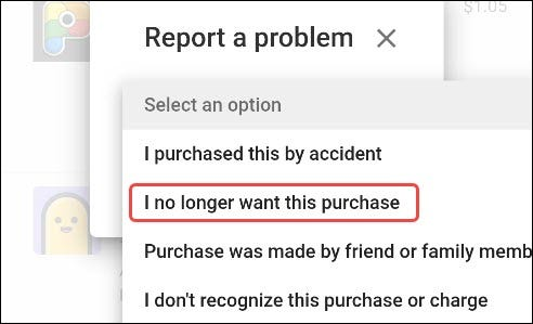 select a reason for refund