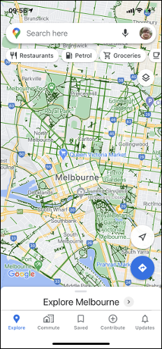 Google Maps Cycling Map
