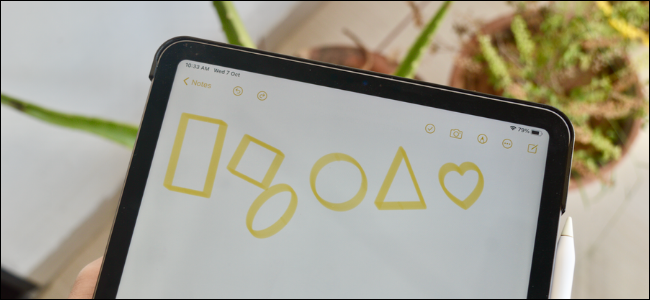 iPad user create perfect shapes in Notes app