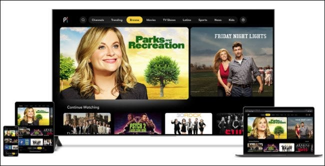 Peacock's TV shows on a variety of devices
