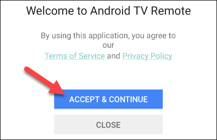 Accept terms of use