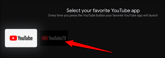 Select the YouTube app that you want to assign the button to