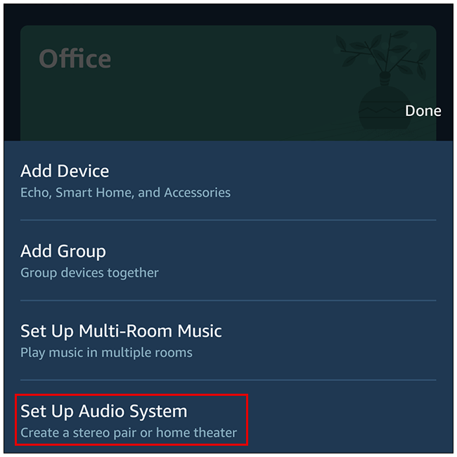 """Select """"Set Up Audio System"""" in the popup window."""