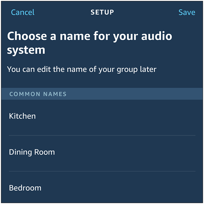 """Finally, you'll choose a name for this pair. You can choose from the list of common names, or scroll to the bottom to create your own name. Select """"Save"""" and you're done!"""