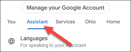 Go to the Assistant tab