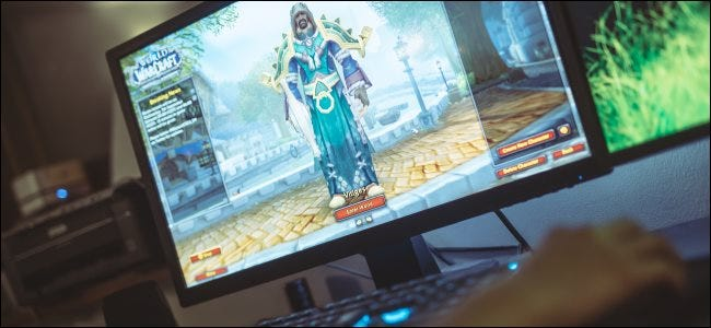 The character select screen in Blizzard's World of Warcraft.
