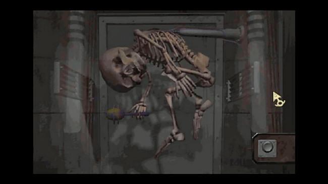 """A skeleton in a scene from """"Zork Nemesis."""""""