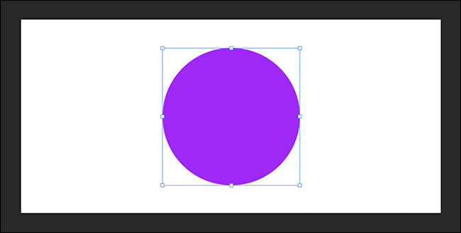 free transform active around a purple circle