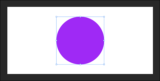 free transform active around a purple circle