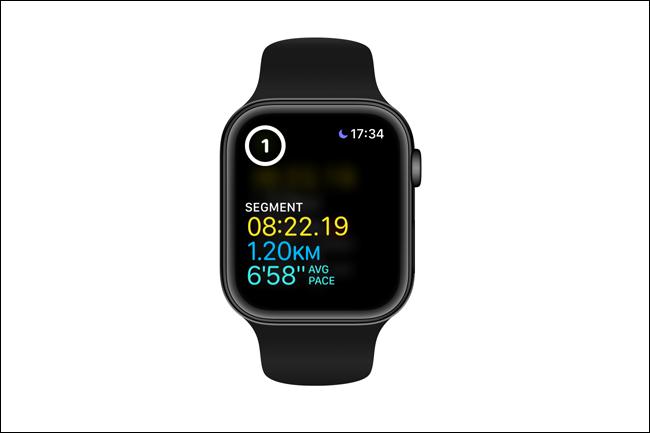 apple watch segment split