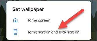 """Tap """"Home Screen"""" or """"Home and Lock Screen."""""""