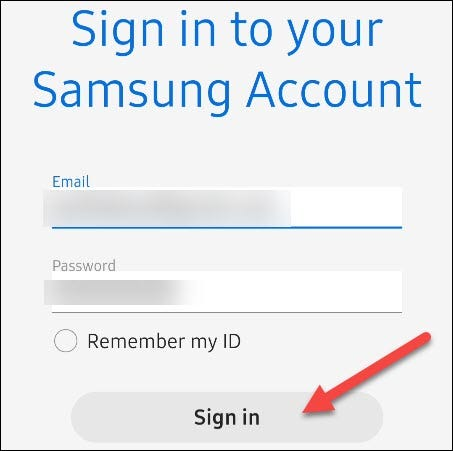 enter your account details