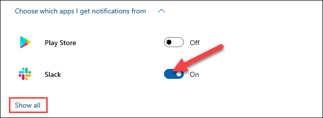 choose which apps can send notifications