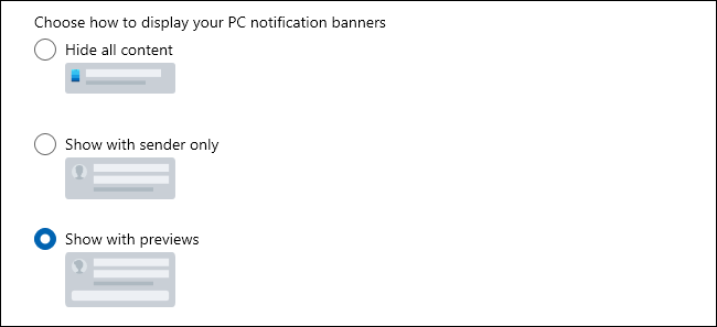 banner view options