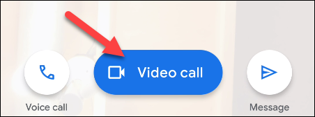 tap the video call button
