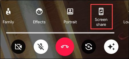tap screen share