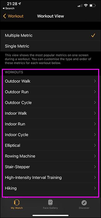 activities in watch app on iphone