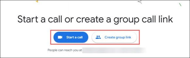 start a call or group