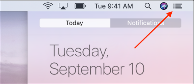 Accessing Notification Center in macOS Catalina and Older
