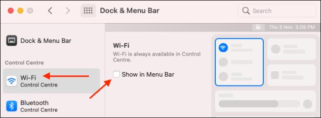 Add Wi-Fi module to Menu Bar