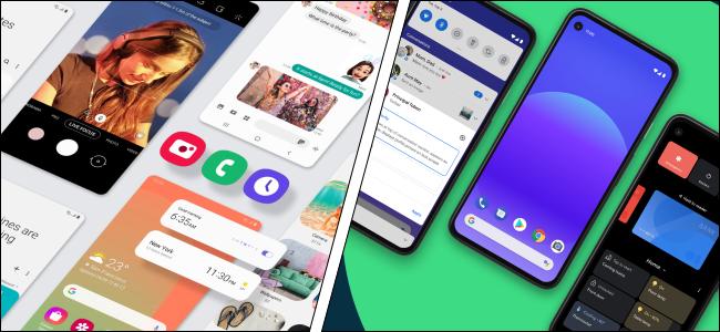 Samsung One UI and Google Pixel UI