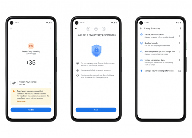 google pay privacy