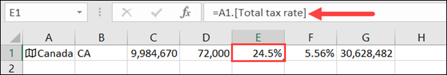 Click a cell to see what type of data it contains in the Formula Bar.