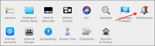 Click Notifications from System Preferences